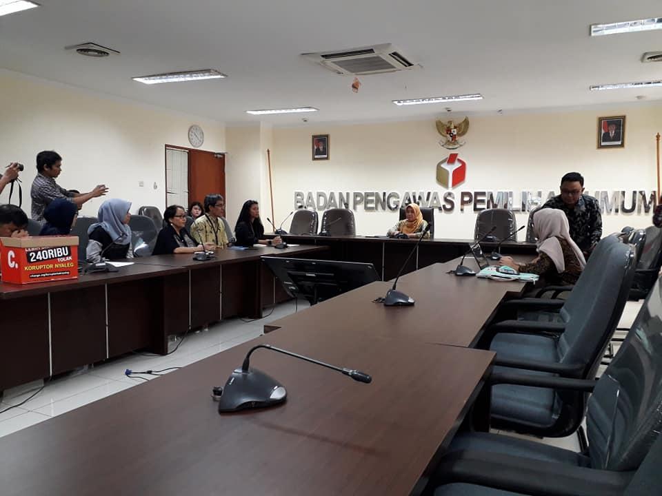(Indonesia) Koalisi Masyarakat Sipil Untuk Pemilu Bersih – Bawaslu RI, Jum'at, 31 Agustus 2018